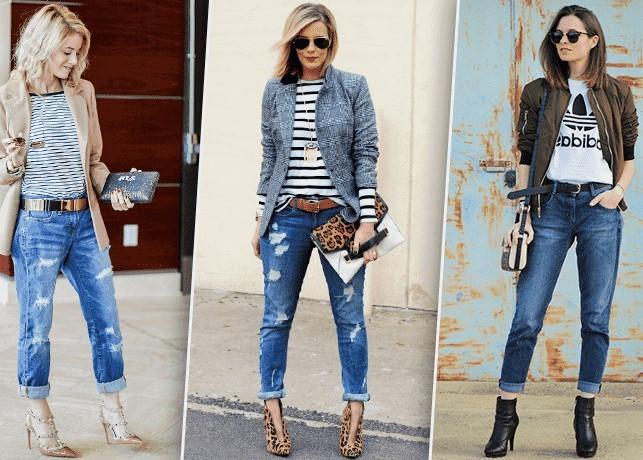 З чим носити джинси бойфренди зимою